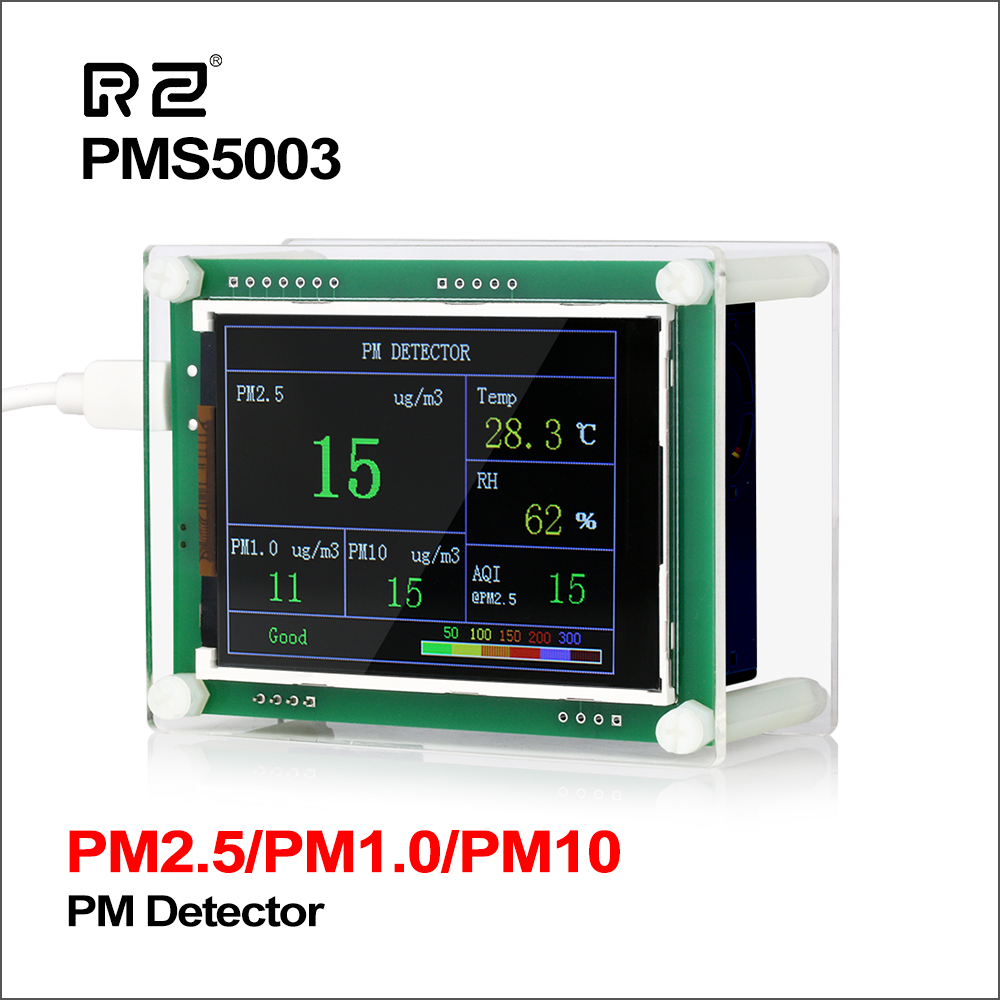 RZ 2.8 Car PM2.5 Detector Tester Meter Air Quality Monitor Home Gas Thermometer Analysis For Home Car Office Outdoors