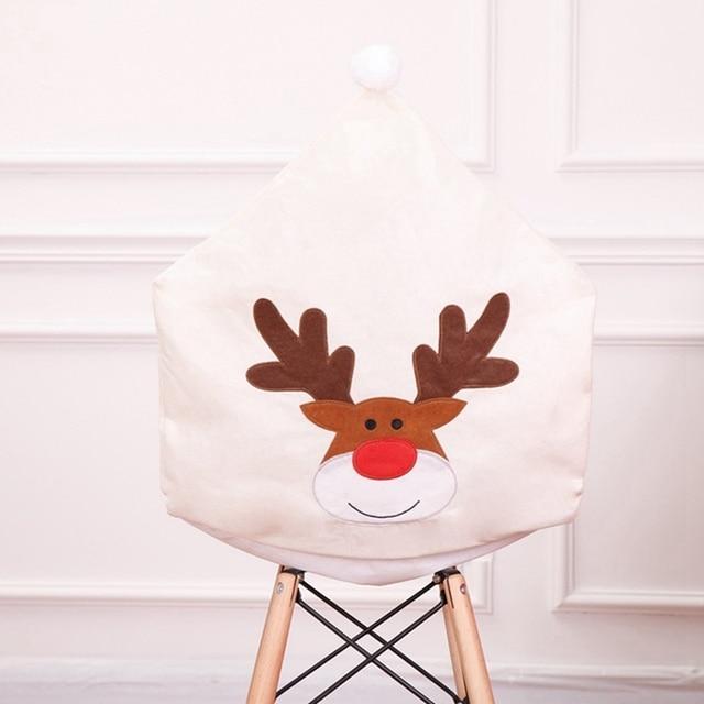 Фото рождественский чехол для стула чехол с вышивкой лося «рождество» цена