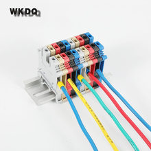 VE1510 1.5mm^2 Cord End Crimp Terminal With Lug Non-insulated Wire Ferrules 9 color