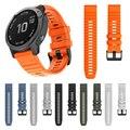 Ремешок для часов QuickFit 22 мм 26 мм для Garmin Fenix 6 6X Pro/5 5X Plus 3 3HR силиконовый ремешок Fenix6 Fenix5 часы Easyfit
