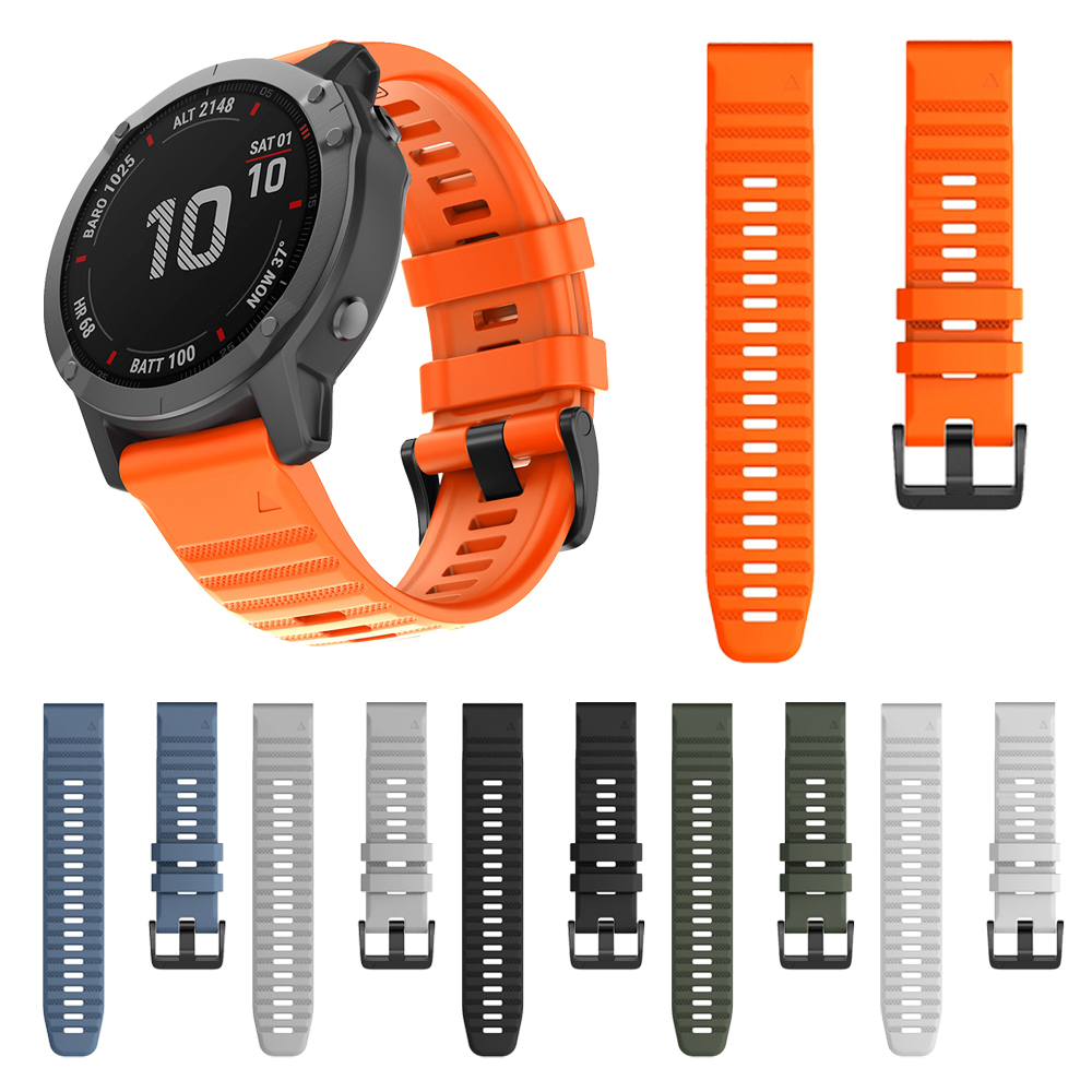 QuickFit 22mm 26mm Watchband For Garmin Fenix 6 6X Pro / 5 5X Plus 3 3HR Silicone Band Fenix6 Fenix5 Watch Easyfit Wrist Strap