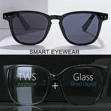 цена на Smart Wireless Bluetooth Headset Glasses USB Car Sports Anti-Blu-ray Earphones Built-in Speaker No Bone Conduction Headphones