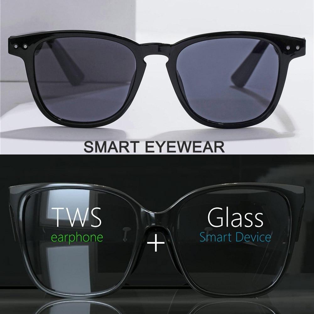 Smart Wireless Bluetooth Headset Glasses USB Car Sports Anti-Blu-ray Earphones Built-in Speaker No Bone Conduction Headphones
