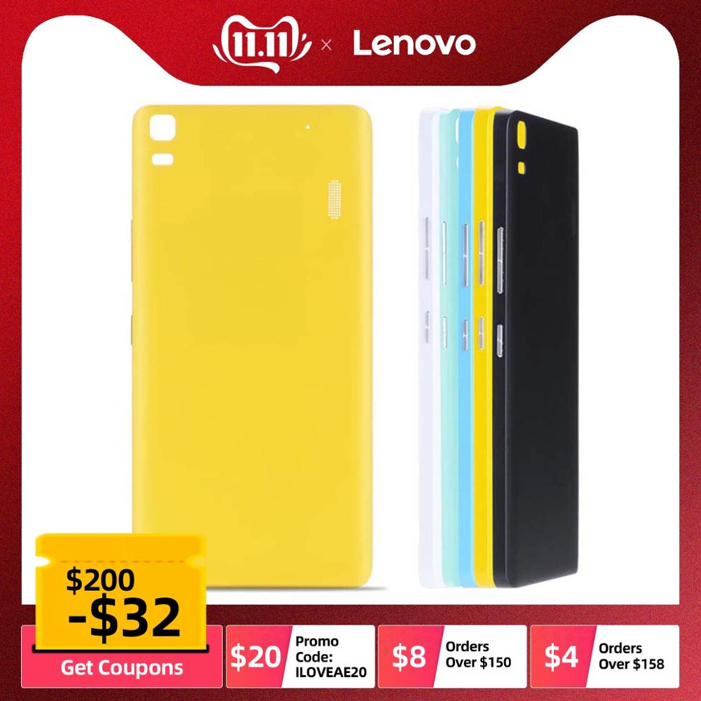 Original Rear Back Housing for <font><b>Lenovo</b></font> A7000 <font><b>K3</b></font> <font><b>Note</b></font> Back <font><b>Cover</b></font> <font><b>Battery</b></font> Door Case with Power Volume Button Replacement Parts image