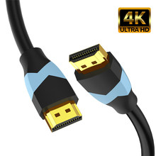Câble de connexion haute vitesse plaqué or, compatible HDMI 4K 60Hz, 18Gbps, pour TV PS3/4 1M 2M 3M 5M 10M 15M, 2.0