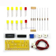 A20-- LM3915 10 LED Sound Audio Spectrum Analyzer Level Indicator Kit DIY Electoronics Soldering Practice Set(China)