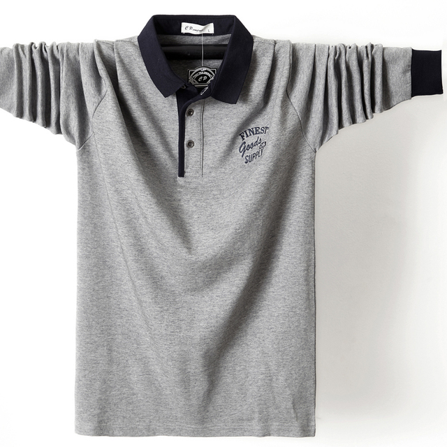 Фото мужская рубашка поло размера плюс 6xl 5xl с воротником осенняя цена