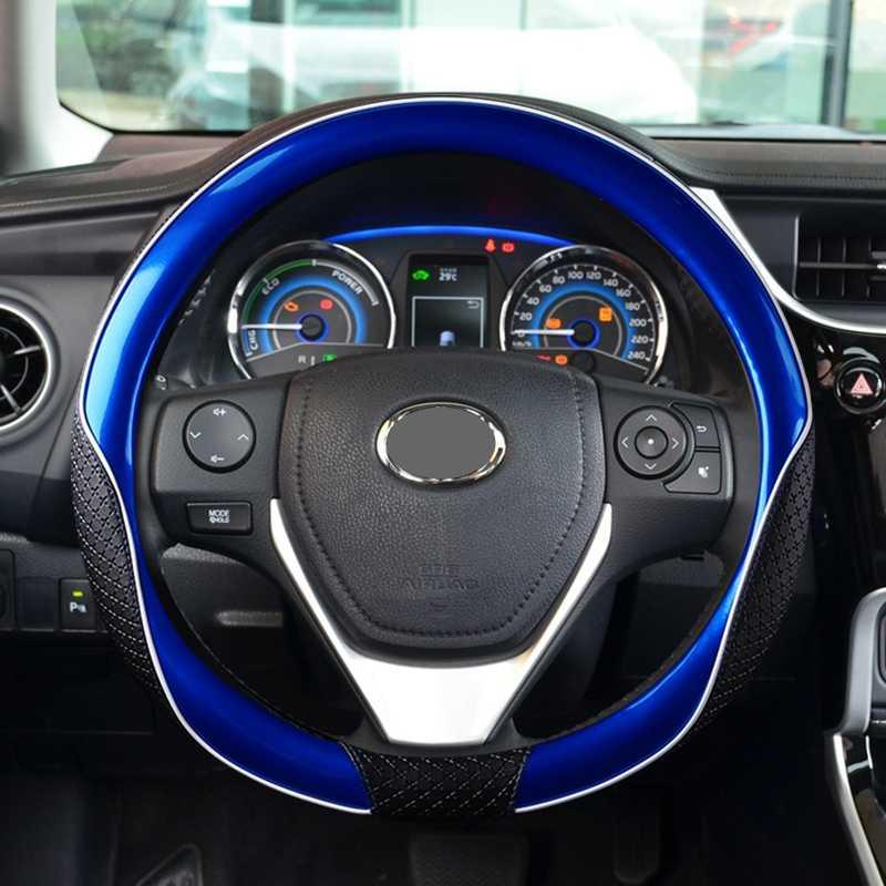 新しい革ステアリングホイールカバーユニバーサル 38 センチメートルフィアット 500l 500x albea で bravo doblo で ducato fiorino linea