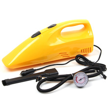 Free Shipping High Quality 2 in 1 Wet And Dry Hand Held Electric Vacuum Cleaner Air Pump Car Charger Portable Dust Collector