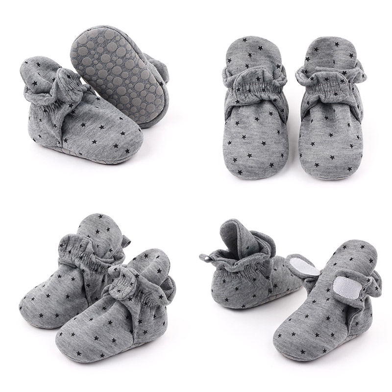 Baby Sock Shoes Cute Cartoon Baby Infant First Walker Shoe Cotton Anti-Slip Warm Newborn Infant Boot Soft Sole Crib Shoes