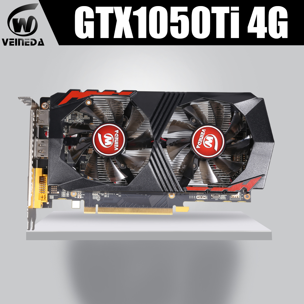 <font><b>Video</b></font> Card GTX1050Ti for Computer Graphic Card PCI-E GTX1050Ti GPU 4GB 128Bit 1291/7000MHZ DDR5 for nVIDIA Geforce Game image