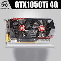 Carte vidéo GTX1050Ti pour carte graphique d'ordinateur PCI-E GTX1050Ti GPU 4GB 128Bit 1291/7000MHZ DDR5 pour jeu nVIDIA Geforce