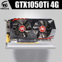 Tarjeta de vídeo GTX1050Ti para tarjeta gráfica por ordenador PCI-E GTX1050Ti GPU 4GB 128Bit 1291/7000MHZ DDR5 para nVIDIA geforce juego
