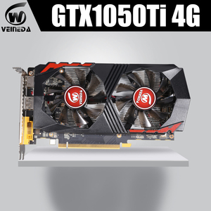 Image 1 - Video Karte GTX1050Ti für Computer Grafikkarte PCI E GTX1050Ti GPU 4GB 128Bit 1291/7000MHZ DDR5 für nVIDIA geforce Spiel