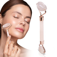 Facial Massage Roller Double Heads Jade Stone Face Lift Hands Body Skin Relaxation Slimming