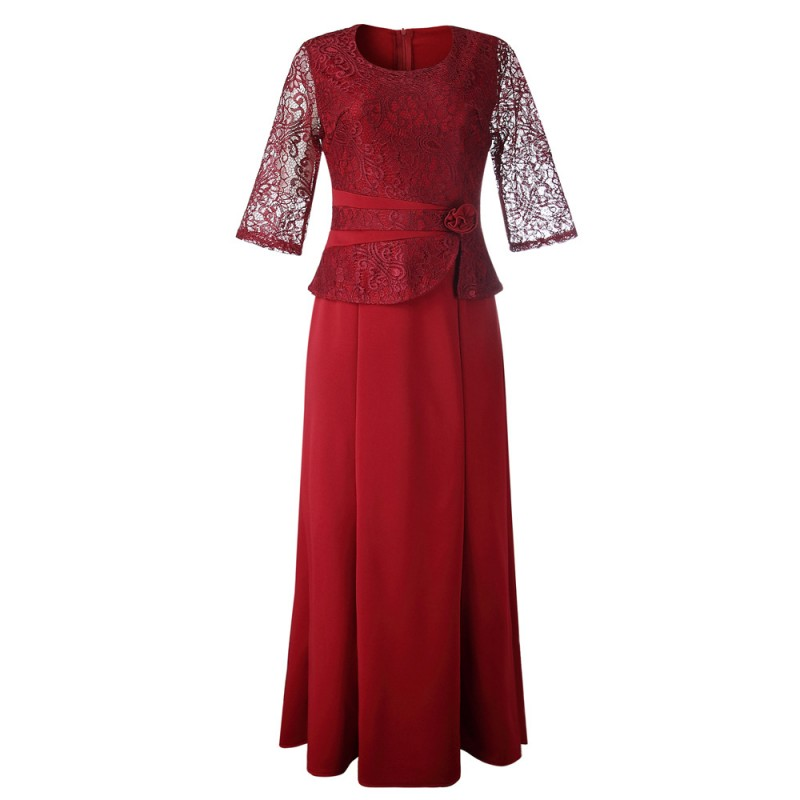 African Dresses For Women Christmas Dashiki Long Maxi Dress Bazin Riche African Clothing 3/4 Sleeve Lace Dresses Africa Clothes