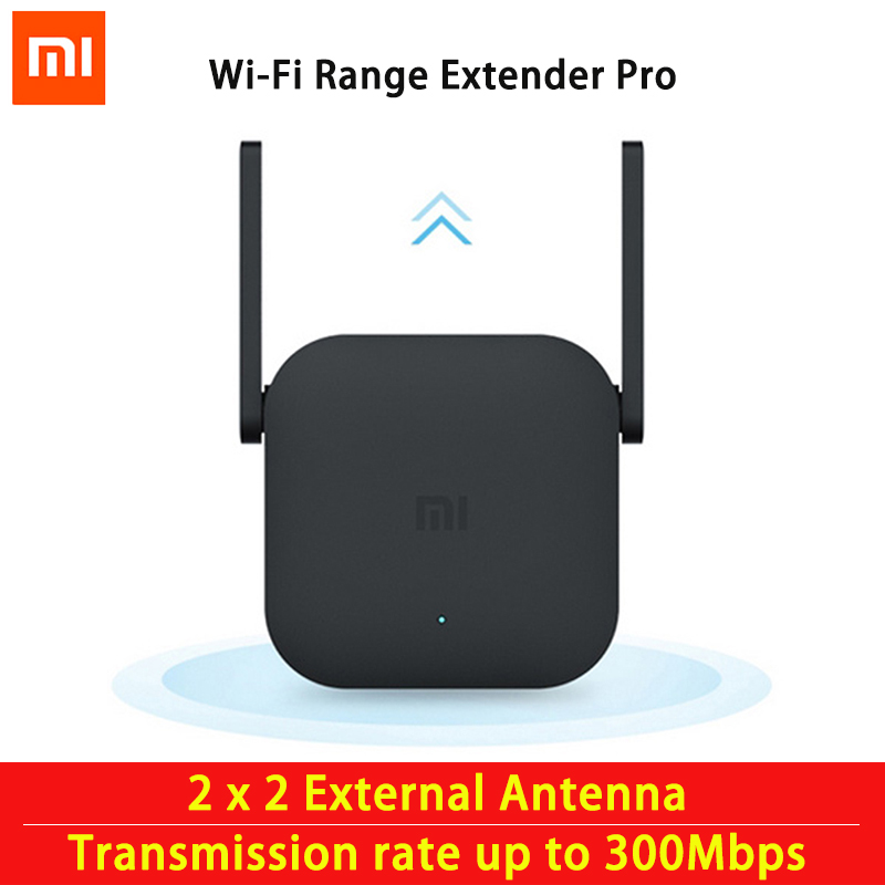 Xiaomi Mijia WiFi Repeater Pro 300M Mi band Amplifier Network Expander Router Power Extender Roteador 2 Antenna for Router Wi-Fi