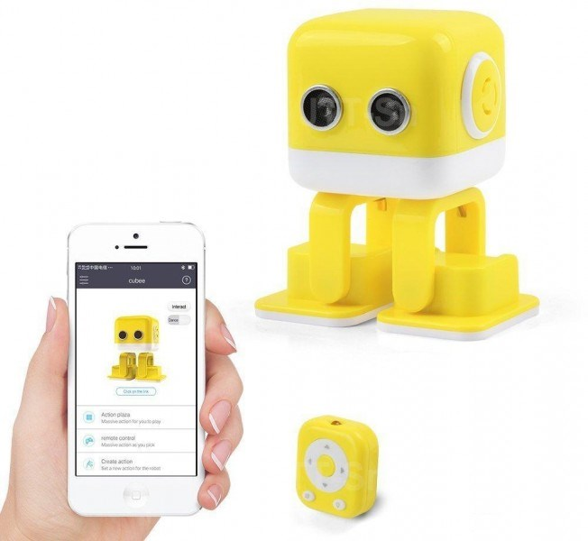 Smart Dancing Robot WLtoys Cubee F9 Yellow APP WLT-F9