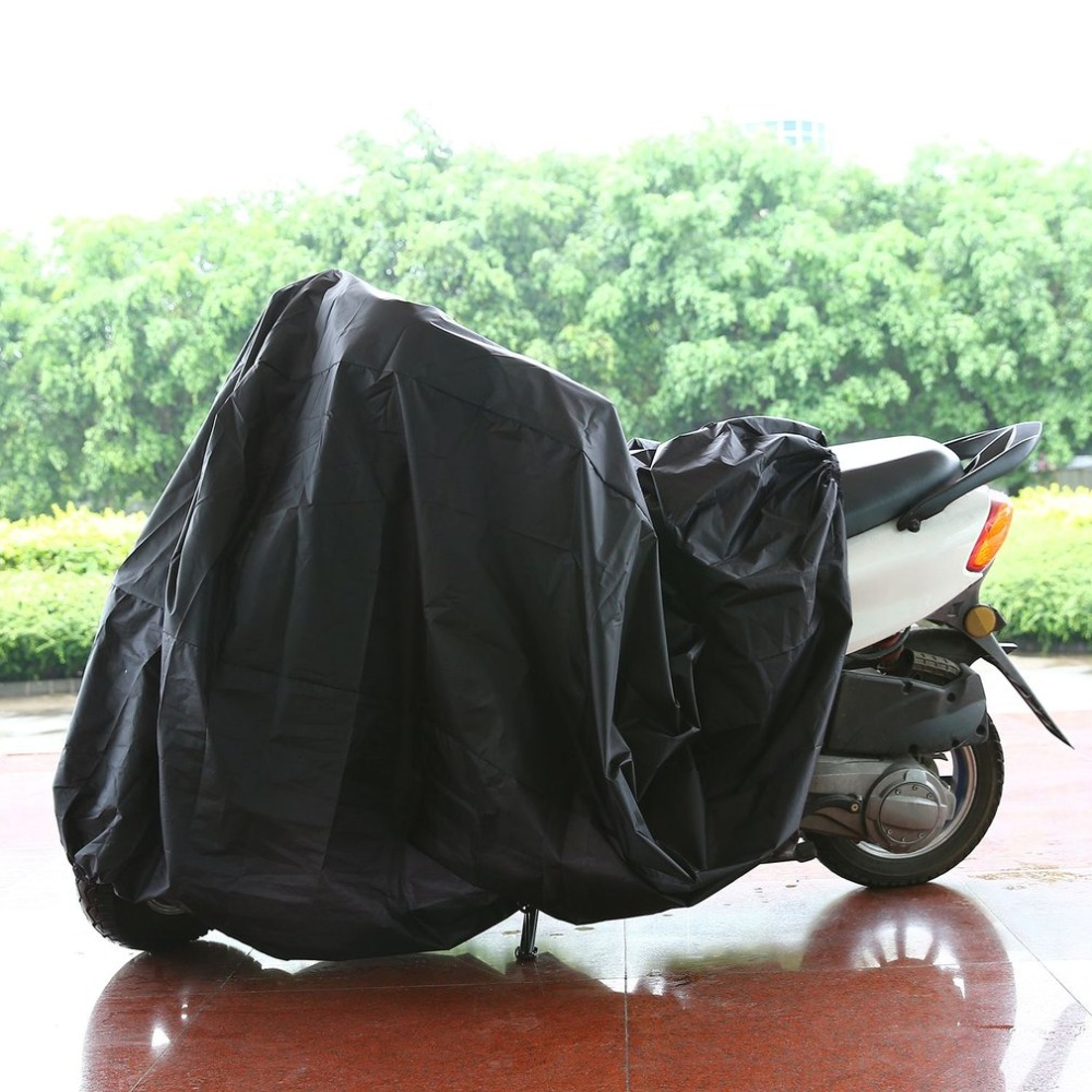 Durable Motorcycle Cover L Waterproof Motorbike Scooter Cover Rain UV Dust Prevention Dust-proof Accessory For Outdoor