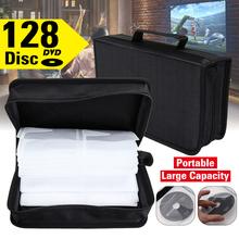 128 CDs tarcza samochodowa worek do przechowywania CD portfel DVD o dużej pojemności pudełko na podróż Zipper oszczędność miejsca uchwyt Home Black tanie tanio KINCO CN (pochodzenie) CD Storage Bag Silk Cloth Cd case Disc CD Storage Bag 128 pcs