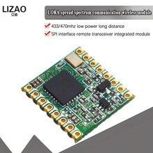 433MHz 470MHz RFM98 RFM98W   Modulo ricetrasmettitore Wireless comunicazione spettro di diffusione LoRa 433M 470M SX1278 16*16mm