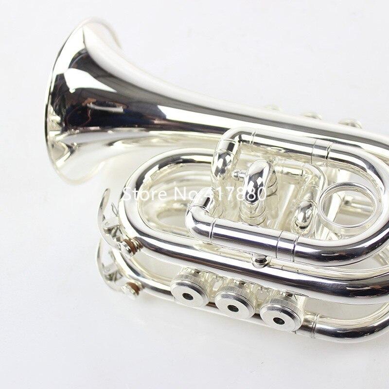 Профессиональный музыкальный инструмент Bach TR6500 Bb, карманная труба с серебряным покрытием, с чехлом, аксессуары, Бесплатная доставка