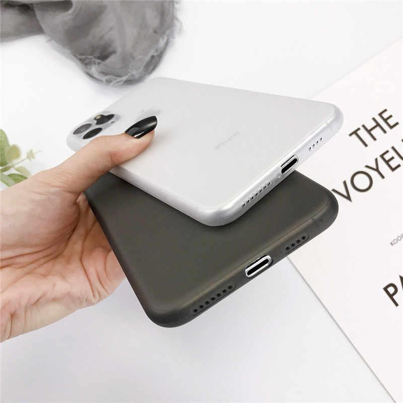 KJOEW Trasparente Cassa Del Telefono Per il iPhone 11 Pro XS Max 7 8 6 6s Plus X XR Della Caramella Antiurto ultra Sottile Opaca Dura del PC Della Copertura Posteriore