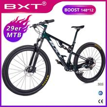 New carbon mountain bike 29 Full Suspension Frame Mechanical Disc Brake 1*12 Speed 29er Downhill Bike for AM XC Free shipping цена и фото