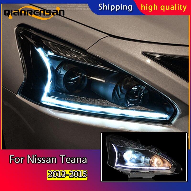 Style de voiture pour Nissan Teana phares U angel eyes 2013-2015 pour Nissan Teana lumière LED Q5 bi xénon lentille h7