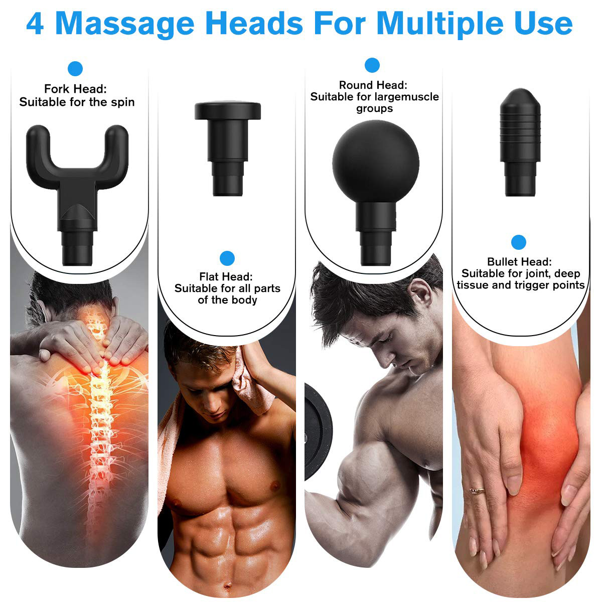 Electronic Therapy Muscle Massage Gun Machine For Body Relaxation Pain Relief
