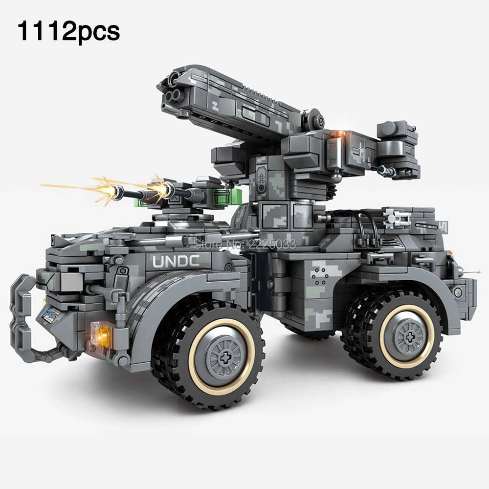 MOC legoingly Military War Series Self-propelled Gun Vehicle Special Forces SWAT Minifigs Figures Building Blocks Toys For Gift