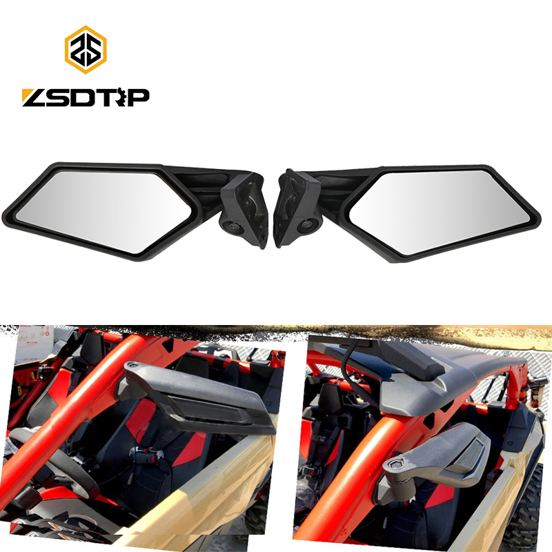 ZSDTRP Motorcycle UTV Side Mirror Rearview Mirror For Bombardier Can Am Maverick X3 2017 2018 2019