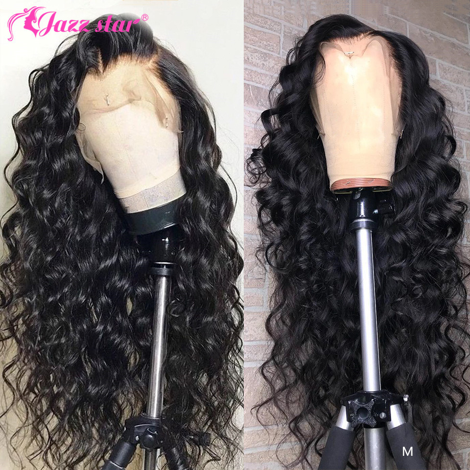 Loose Deep Wave Wig 13x4 13x6 Lace Front Wig Brazilian Lace Front Human Hair Wigs Pre-Plucked With Baby Hair Jazz Star Non-Remy