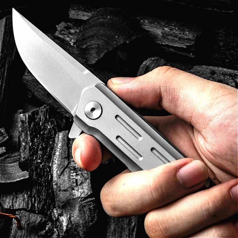 Japanse D2 staal 60 HRC oppervlak zandstralen titanium dioxide gecoat outdoor zakmes EDC quick pocket zakmes