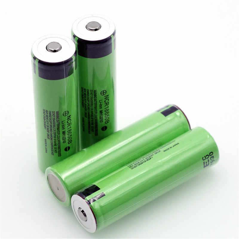 Neue Original 18650 3,7 v 3400 mah Lithium-Akku NCR18650B mit Spitzen (Keine PCB) Für taschenlampe batterien