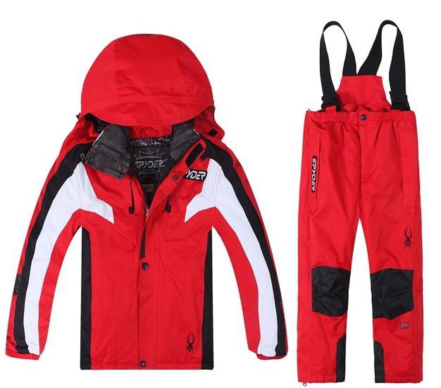 Boys And Girl Ski Sets Winter Waterproof Windproof Kids Ski Jacket Children Outdoor Warm Hooded Snowboard Sports Suits
