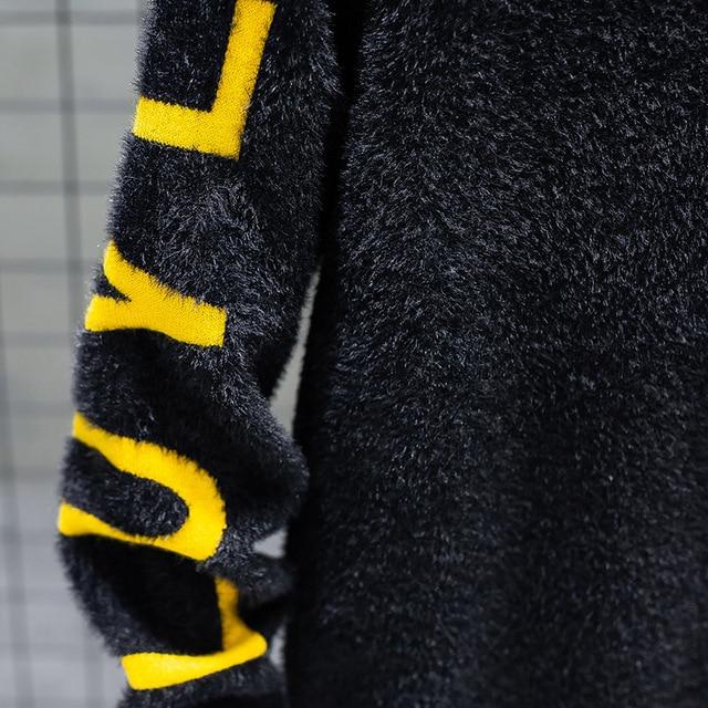 Suéter de cachemir para hombre, suéteres gruesos y cálidos de Navidad, jersey de cuello alto, moda de punto, novedad de invierno de 2020 6