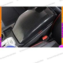Lsrtw2017 Carbon Fiber Abs Car Armrest Cover for Hyundai Tucson 2019 2020 Interior Accessories Chrome Styling