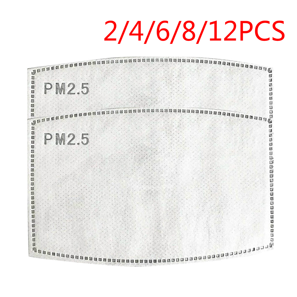 PM2.5 Activated Carbon Mask Filters Pad Replaceable Breathing Mask Filters Pad Breathing Filters Mat 2/4/6/8/12 PCS Dropshipping