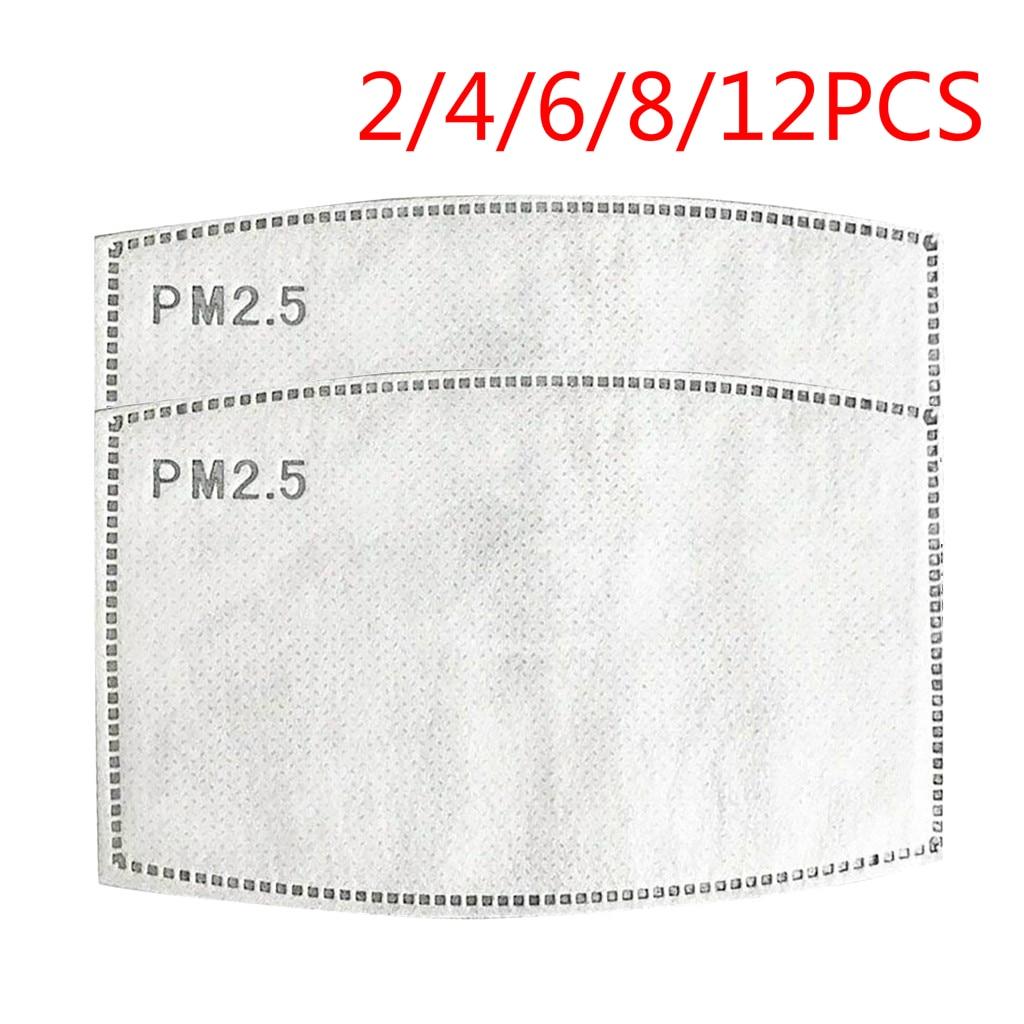 PM2.5 Activated Carbon Maske Filters Pad Replaceable Breathing Maske Filters Pad Breathing Filters Mat Cover 2/4/6/8/12 PCS