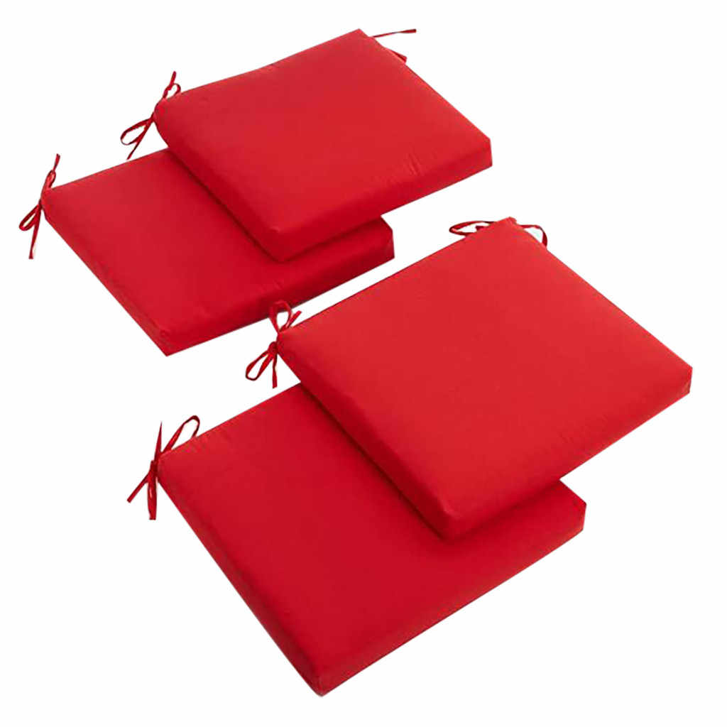 38 4 pc seat cushion indoor or outdoor square chair zippered seat cushions set 20 inches home decoration soft sofa cushion