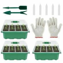 3 uds 12 agujero de plántulas de bandejas de semillas flor protector de cultivo de propagación para jardinería protector de cultivo Semilleros Germinador