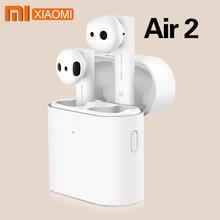 Original Xiaomi Air 2 ชุดหูฟังบลูทูธ TWS หูฟัง Airdots Pro 2 Xiaomi TWS หูฟังเสียง HD คุณภาพอัตโนมัติหยุดชั่วคราวแตะควบคุม