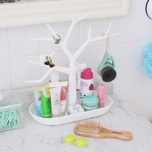 New bird tree branch shape jewelry organizer key storage rack plastic shelving for pendant earrings ring display shelf