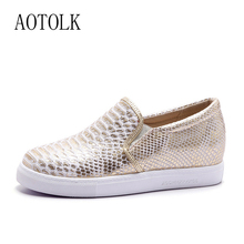 Platform Women Flats Loafers Shoes Woman Brand Silver Thick Heels Single Sneakers Women Spring Plus Size Lazy Shoes Female EO стоимость