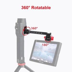 Image 2 - Soporte de luz de Flash para micrófono de zapata de 1/4 pulgadas para Dji Ronin S SC ZHIYUN Weebill Crane 3, soporte de Monitor de cámara de cardán