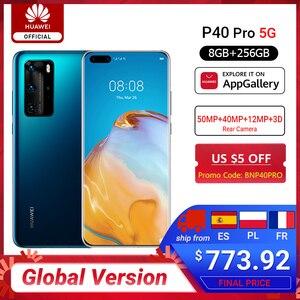 Предварительная продажа глобальная версия huawei P40 Pro 8G 256G Kirin 990 5G восьмиядерный смартфон с тройной камерой 6,58 ''экран SuperCharge Max 40W