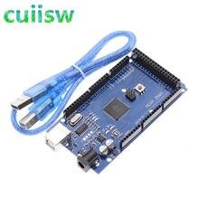 Cuiisw mega 2560 r3 mega2560 rev3 ATmega2560-16AU placa + cabo usb compatível para arduino