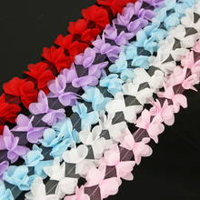 140pieces/Lot Webbing-Decoration Lace-Fabric Chiffon Ribbons-Crafts Butterfly Gift Love