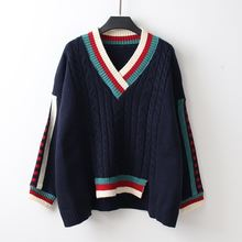 Женский замшевый пуловер с v образным вырезом нестандартный